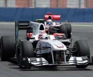 Puzle Kamui Kobayashi - Sauber - Valência 2010