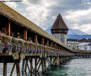 Puzle Kapellbrücke, Suíça