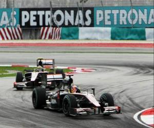 Puzle Karun Chandhok, Bruno Senna - HRT - Sepang 2010