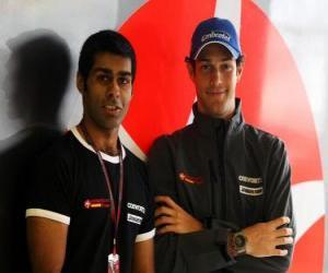 Puzle Karun Chandhok e Bruno Senna, os pilotos da Hispania Racing