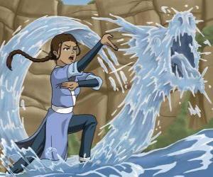 Puzle Katara é uma poderosa mestra da água, que acompanha Aang com seu irmão Sokka