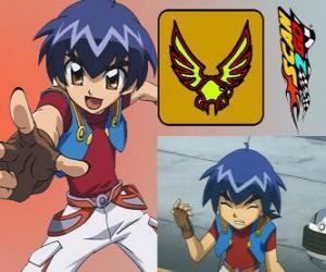 Puzle Kazuya Daidoh é o personagem principal de Scan2Go e ele quer se tornar o piloto mais rápido no espaço