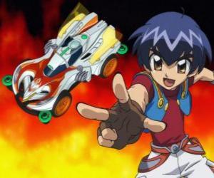 Puzle Kazuya lançando o carro em uma corrida