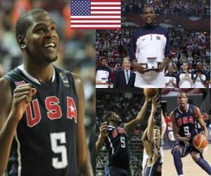 Puzle Kevin Durant MVP do Campeonato Mundial FIBA 2010