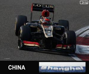 Puzle Kimi Räikkönen - Lotus - Grande Prémio da China 2013, 2º classificado