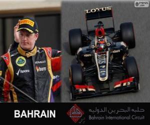 Puzle Kimi Räikkönen - Lotus - Grande Prêmio de Bahrain 2013, 2º classificado