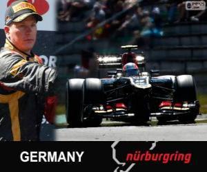 Puzle Kimi Räikkönen - Lotus - Grande Prêmio Alemanha 2013, 2º classificado