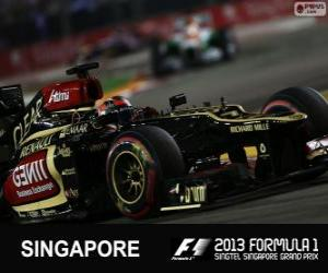 Puzle Kimi Räikkönen - Lotus - Grand Prix de Cingapura 2013, 3º classificado