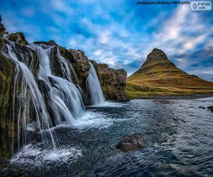 Puzle Kirkjufellsfoss, Islândia