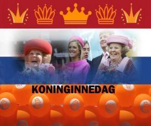 Puzle Koninginnedag ou Dia da Rainha, feriado nacional nos Países Baixos em 30 de abril para comemorar o aniversário da Rainha