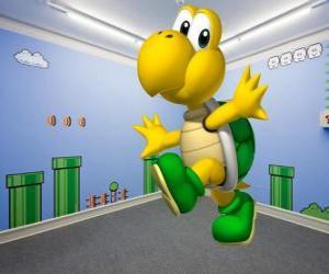 Puzle Koopa Troopa, tartarugas bípedes são inimigos nos jogos do Mario