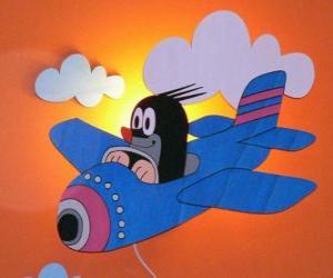 Puzle Krtek de avião