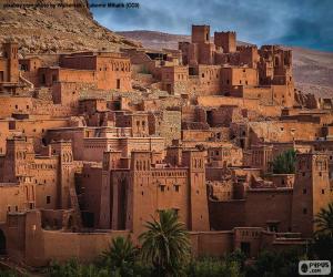Puzle Ksar de Aït Ben Haddou, Marrocos