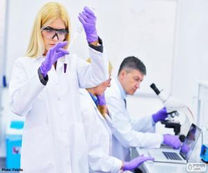 Puzle Laboratório farmacêutico