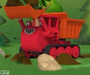 Puzle Lagartas, o caminhão lagarta