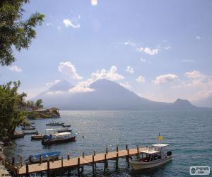 Puzle Lago Atitlán, Guatemala