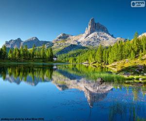 Puzle Lago Federa, Itália