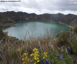 Puzle Lagoa Quilotoa, Equador