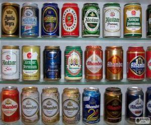 Puzle Latas de cerveja