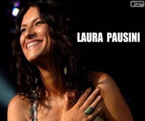Puzle Laura Pausini, cantora italiana