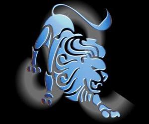 Puzle Leão ou Leo. O Leão. Quinto sinal do zodíaco. Nome em latim é Leo