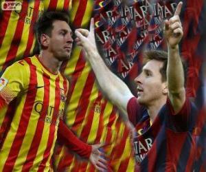 Puzle Leo Messi, artilheiro da história do FC Barcelona