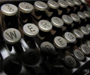 Puzle Letra de uma velha máquina de escrever