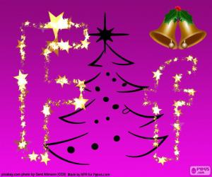 Puzle Letra F para o Natal
