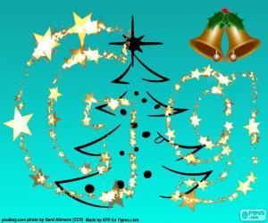 Puzle Letra G uma letra de Natal