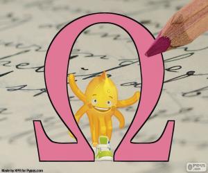 Puzle Letra grega Omega