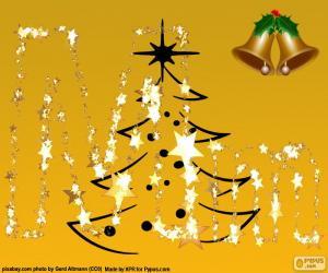 Puzle Letra M de Natal