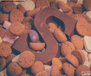 Puzle Letra S de chocolate