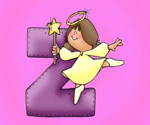 Puzle Letra Z com um anjo