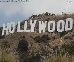 Puzle Letreiro de Hollywood