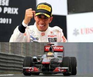 Puzle Lewis Hamilton comemora a vitória no Grande Prémio da China (2011)