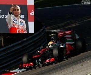 Puzle Lewis Hamilton comemora sua vitória no grande prémio de Itália 2012