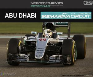 Puzle Lewis Hamilton, GP Abu Dhabi 2016