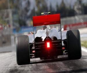 Puzle Lewis Hamilton - McLaren - Barcelona 2010