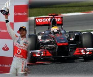 Puzle Lewis Hamilton - McLaren - Barcelona, Espanha Grand Prix (2011) (segundo lugar)