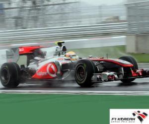 Puzle Lewis Hamilton - McLaren - Coréia 2010 (2 º Classificado)