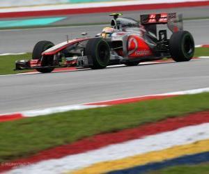 Puzle Lewis Hamilton - McLaren - Grande Prémio da Malásia (2012) (3º lugar)