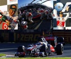 Puzle Lewis Hamilton - McLaren - Melbourne, Grande Prémio da Austrália (2011) (segundo lugar)