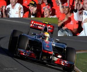 Puzle Lewis Hamilton - McLaren - Melbourne, grande prêmio da Austrália (2012) (3º lugar)
