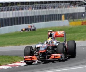 Puzle Lewis Hamilton - McLaren - Montreal 2010