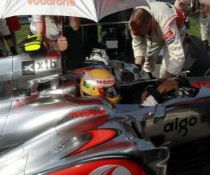 Puzle Lewis Hamilton - McLaren - Monza 2010