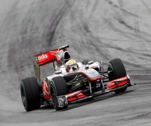 Puzle Lewis Hamilton - McLaren - Sepang 2010