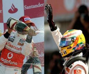 Puzle Lewis Hamilton - McLaren - Silverstone 2010 (segundo lugar)