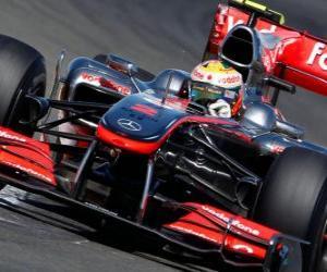 Puzle Lewis Hamilton - McLaren - Silverstone 2010