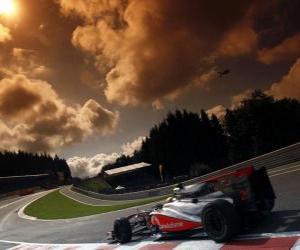 Puzle Lewis Hamilton - McLaren - Spa-Francorchamps 2010
