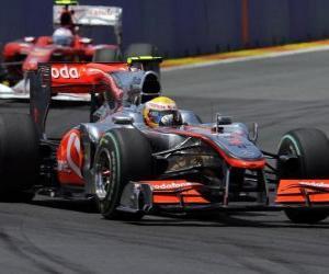 Puzle Lewis Hamilton - McLaren - Valência 2010